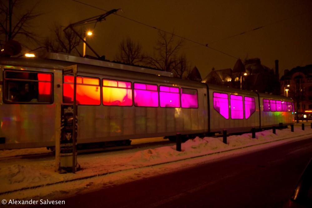 Lux Helsinki, Lux Ratikka, Tram, Alexander Salvesen, light, artist, installation