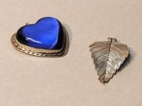 Silver, leaf, jewelry, heart