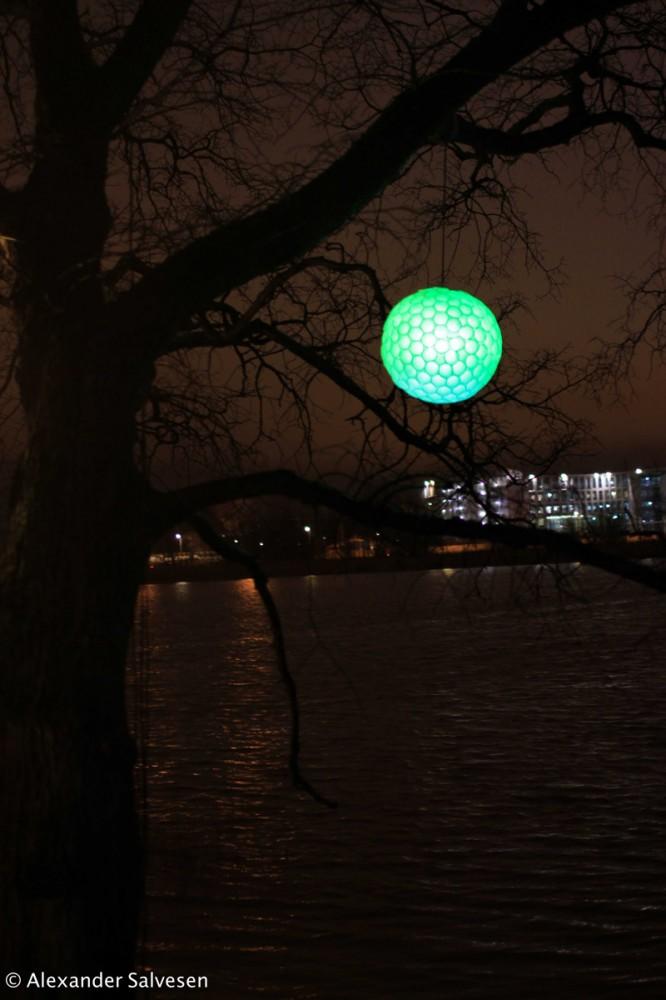 Helium, Lux Helsinki, Lantern Park, Light Installation, Alexander Salvesen, 2014