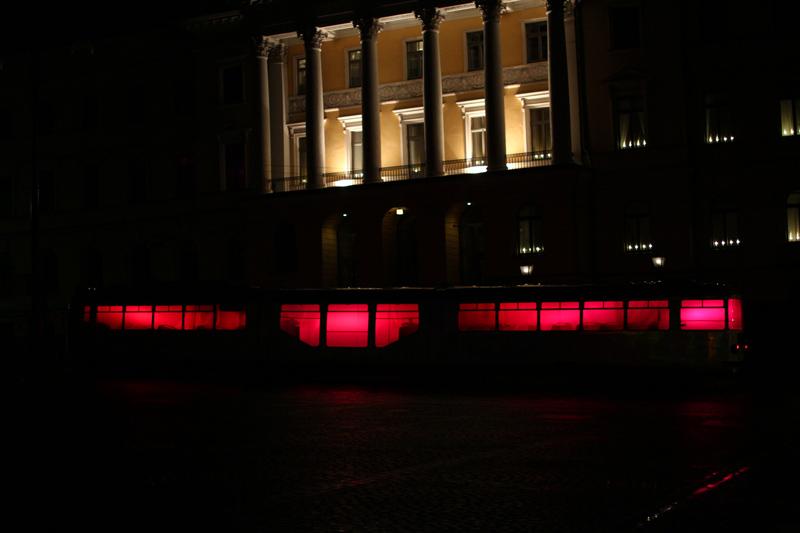 Riikka Karjalainen, Alexander Salvesen, Lux Helsinki, Lux Ratikka, 2014, Light Art, Installation, HKL, tram